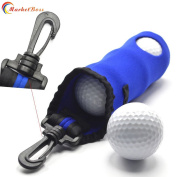 MarketBoss Golf ball bags/box/case with Clip-on Hook hold 3 balls
