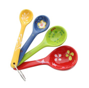 Floral Design Ceramic Measuring Spoons