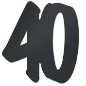 "Beistle 54110-40 ""40"" Foil Silhouette, 12-Inch, Black"