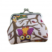 Bodhi2000® Womens Girls Vintage Owl Coin Purse Mini Wallet Card Holder Pouch