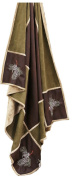 Carstens Pinecone Grid Throw Blanket