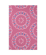 E by Design Happiness is Floral Print Throw Blanket, 130cm X 150cm , Pink Cheeks