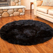 Comfortable Round Pure Wool Area Rugs /Carpet Living Room Bedroom Window Mat Cushions Sofa Comfortable Cushions Padded