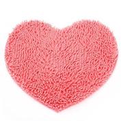 Flyyfree Heart Shaped Soft Fluffy Rug Bathroom Bedroom Carpet Mat PINK