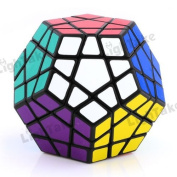 Aoile Megaminx Brain Teaser Magic Cube Speed Twisty Puzzle Toy .Black.