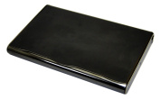 Tapp Collections Business Name Card Holder Stainless Steel Case - Black