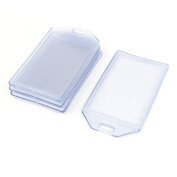 sourcingmap® Plastic Vertical ID Card Name Business Badge Holders 5pcs Clear Blue