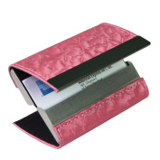 kilofly Business Card Holder - 2 Storage Slot Compartments - Tanner, PU Leather
