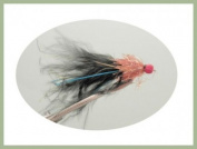 Ally Mcoist Flies, 6 Per Pack Lures, Orange & Black, Size 10 ,For Fly Fishing
