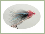 Ally Mcoist Flies, 6 Per Pack Lures, Red and Black, Size 10 ,For Fly Fishing