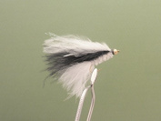 6 Pack of White Body Cruella Cats Whiskers Size 10, Trout Flies