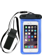 Universal Waterproof Case, Kehon Clear Cell Phone Dry Bag Pouch With Armband + Neck Strap for iPhone 7 Plus / 7 / SE / 6s / 6s Plus, Galaxy S8 / S6 / S6 Edge / S7 / S7 Edge up to 15cm diagonal