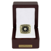 Steelers 1974 Championship Ring Replica with Wooden Display Case