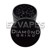 Diamond Grind 4 Piece Aluminium Herb Grinder Large 62mm (Colours Available)
