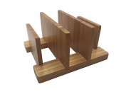 JJMG NEW Bamboo Napkin Holder Pot Lid Organiser Chopping Cutting board Stand Dish Rack – Pantry and Cabinet Cookies Sheet Bakeware Houseware Cookware Organiser Space Saver Kitchen Storage Essentials