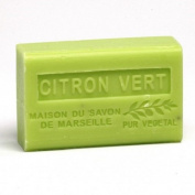 French Soap, Traditional Savon de Marseille - Lime (Citron Vert) 125g