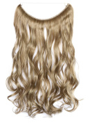 Icegrey 46cm Curly Wavy Hair Extensions Human Hair