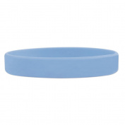 Custom Light Blue Debossed Silicone Wristband