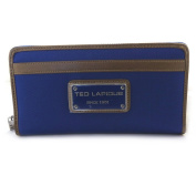 Wallet + chequebook holder zipped 'Ted Lapidus'royal blue.