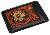 KC,s Leather Craft GENUINE COWHIDE PASS NO.1 CRAFT DX Handmade In Japan Black