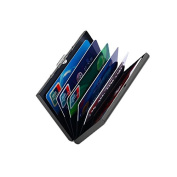 SNUG STAR Ultra-Thin Stainless Metal Credit Card Holder Wallet Metal Water Resistant 6 Slot Best Protection