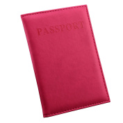 PU Leather Passport Holder Wallet Cover ID Credit Card Holder