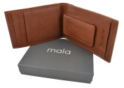 Mala Leather Django Magnetic Money Clip & Credit Card Holder with ID Window Gift Boxed