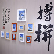 NAUY- Photo Frame Wall Stickers Creative Combination Study Office Walls Home Decorated Photo Walls Simple Calligraphy Photo Wall