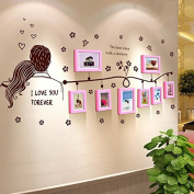 NAUY- Solid Wood Frame Wall Living Room Restaurant Bedroom Photo Wall Creative Solid Wood Office Photo Wall Home Decoration Photo Wall
