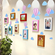 NAUY- Balloon Stereo Wall Stickers Solid Wood Frame Wall Children's Room Kindergarten Decoration Life According To Art Photos Photo Wall