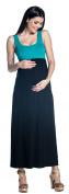 Zeta Ville - Women's Maternity Maxi Dress Pleated Empire Waist Scoop Neck - 292c