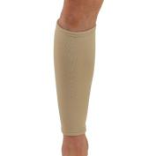 NeoPhysio Medical Grade Elastic Compression Calf Support, Beige Tubular Sleeve - XXL = 48 - 53cm
