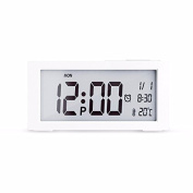 LESX-alam clock Creative Simple Lazy Lazy Mute Clock Test Temperature Electronic Alarm Clock For Desk And So On For Bedroom Desk Desk, Etc., White