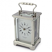 David Peterson 8 Day Obis Carriage Clock in Solid Brass Chrome Plated