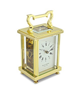 David Peterson 8 Day Flat Brass Carriage Clock in Solid Brass