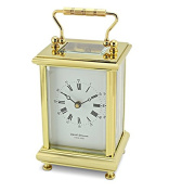 David Peterson 8 Day Boite Carriage Clock in Solid Brass