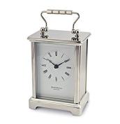 David Peterson Solid Brass Quartz Obis Carriage Clock Chrome Plated