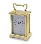 David Peterson Solid Brass Quartz Anglais Carriage Clock