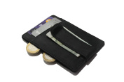 Money clip with card holder I Genuine Leather I RFID slim wallet with money clip I 6 cards