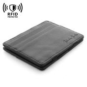 Jaimie Jacobs Men Magic Wallet Flap Boy Slim with RFID-Blocking Genuine Leather