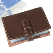 kilofly Credit Business Card Holder Name Card Case - Leather, Brown