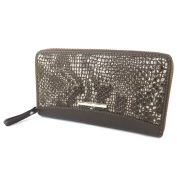 """Zipped compartment / leather pouch 'Gianni Conti'brown (python pattern)- 19x10.5x2.5 cm (7.48""""x4.13""""x0.98"""")."""