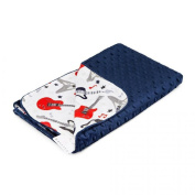 MayLily® Premium | Regular Baby Blanket | Bamboo/Minky | 95x75cm | Made in EU | available in many colours