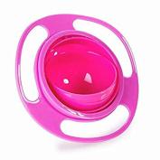 Masterein Non Spill Feeding Toddler Gyro Bowl 361 Rotating for Baby Kids Avoid Food Spilling