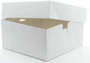White Cake Boxes with removable lid - 20cm - Pack of 5