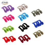 Joyoldelf 22 pcs Anti-slip Mini Flocking Clothes Rack Cascading Hanger Hooks - Perfect to Organise Closet & Save Space