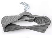 Pack in 50pcs Hight Quality Velvet Space Saving Non-slip Coat Hangers,Velvet Hanger,Trouser Hanger,Clothes Hanger