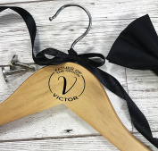 Personalised Wooden Hanger for Wedding Suit Monogram for the Father of the Groom