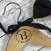 Personalised Wooden Hanger for Wedding Suit Monogram for Best Man