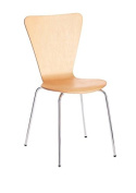 Office Hippo Heavy Duty Cafe Bistro Stacking Chair - Beech